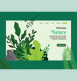 nature landing page template template design vector image vector image