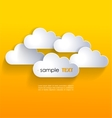 Network clouds vector image vector image