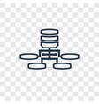network concept linear icon isolated on vector image