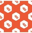 Orange hexagon discount pattern vector image vector image