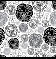 pancy and plumeria-flowers in bloom seamless vector image