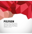 Polygonal design Geometric shape design vector image