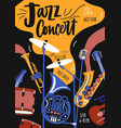 poster template for jazz music orchestra vector image vector image