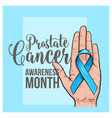 prostate cancer awareness month banner poster vector image vector image