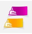 realistic design element church vector image