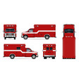 realistic fire engine vector image vector image