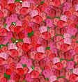 Red and pink roses seamless pattern floral vector image