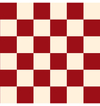 Red Cream Chess Board Background vector image vector image