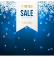 Sale banner with snowflakes