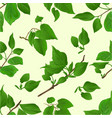 seamless texture twig lilac with leaves nature vector image vector image