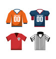 set american football sport game unifrom vector image vector image