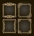 set decorative golden frames vector image vector image