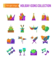 Set of art theater cinema and music flat icons vector image vector image