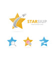 Set of star logo combination leader and airplane