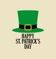 simple graphic of leprechaun green hat vector image