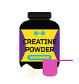 sports nutrition creatine powder professional vector image vector image