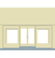 storefront Empty Storefront Clean store windows vector image vector image