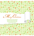 torn christmas decorative paper vector image vector image