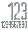trendy numbers collection retro condensed vector image
