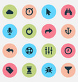 user icons set with bug find hourglass and other vector image vector image