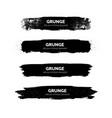 variety grunge brush strokes vector image vector image