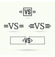 Versus sign vector image vector image
