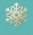 vintage christmas card with polka dot and vector image
