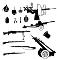 weapon and artillery vector image vector image
