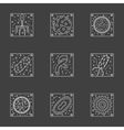 White line viruses and bacteria icons set vector image vector image