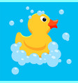 yellow rubber duck toy vector image vector image