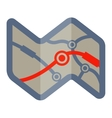 route road map vector image