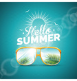 summer holiday with sunglasses vector image