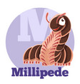 abc cartoon millipede vector image