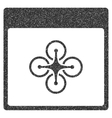 Air Copter Calendar Page Grainy Texture Icon vector image vector image