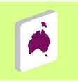 australia computer symbol vector image