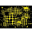 background halftone blot yellow balls vector image