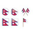 badges with flag of Nepal vector image vector image