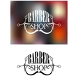Barber shop icon or emblem vector image vector image