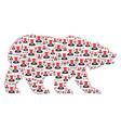 bear mosaic of devil items vector image