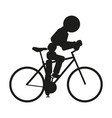 bicycle sign black icon on vector image