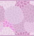 big dahila seamless flower pattern background vector image