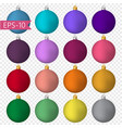 big set of colored christmas ballsnew year vector image vector image