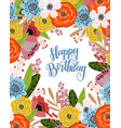 birthday card with cute hand drawing bright vector image vector image