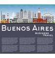Buenos Aires Skyline with Color Landmarks vector image vector image