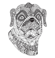 Bulldog portrait Hand drawn stylized dog vector image