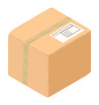 carton box icon isometric style vector image vector image