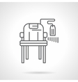 Chair with price tag flat line icon vector image vector image