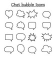 chat balloon speech bubble talking speaking icon vector image