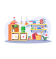 children room modern interior with toys vector image