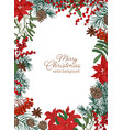 christmas greeting card template with festive wish vector image vector image